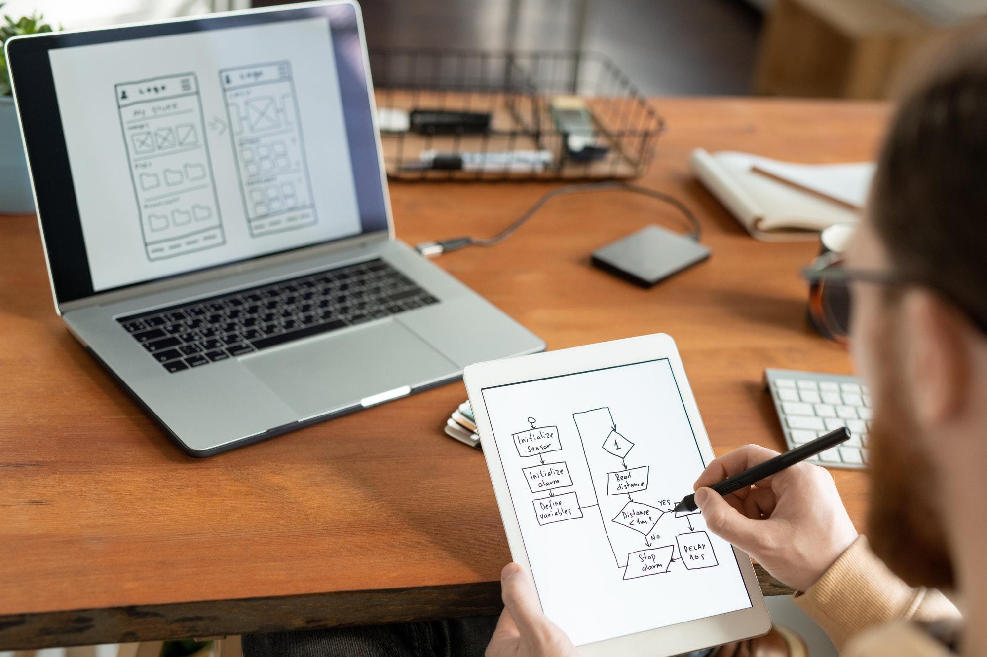 Drawing scheme for ui design